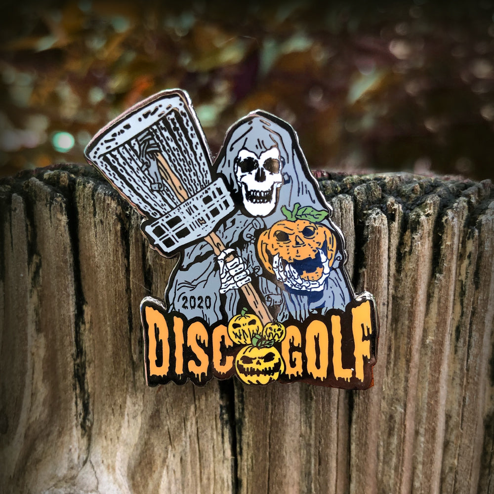 Halloween 2020 Grim Reaper Disc Golf Pin