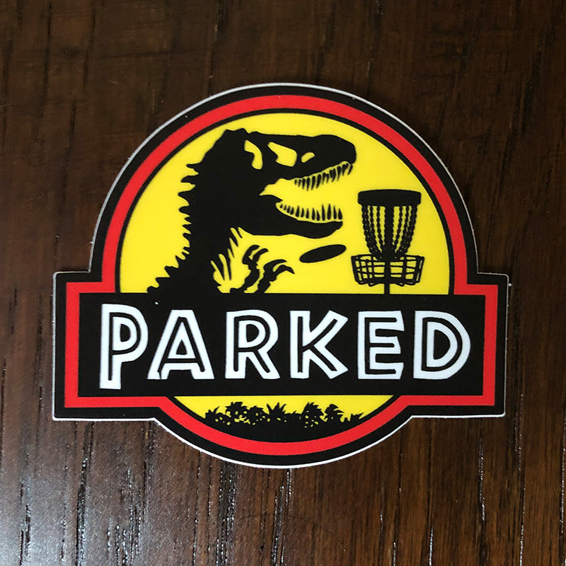 T-Rex Parked Sticker