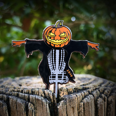 Halloween 2019 Scarecrow Disc Golf Pin