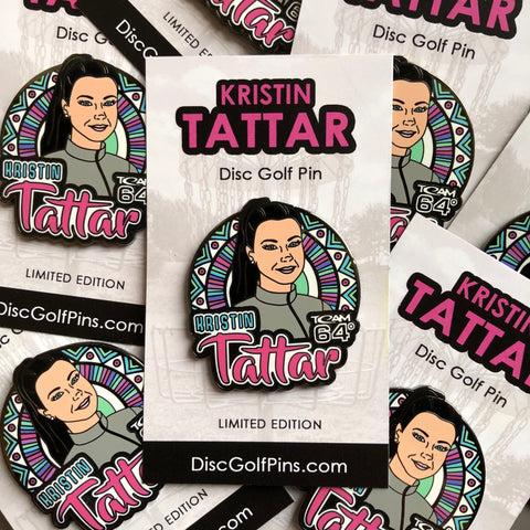 Kristin Tattar Disc Golf Pin - Series 1