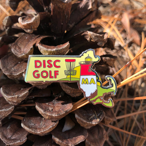 Massachusetts Disc Golf Pin