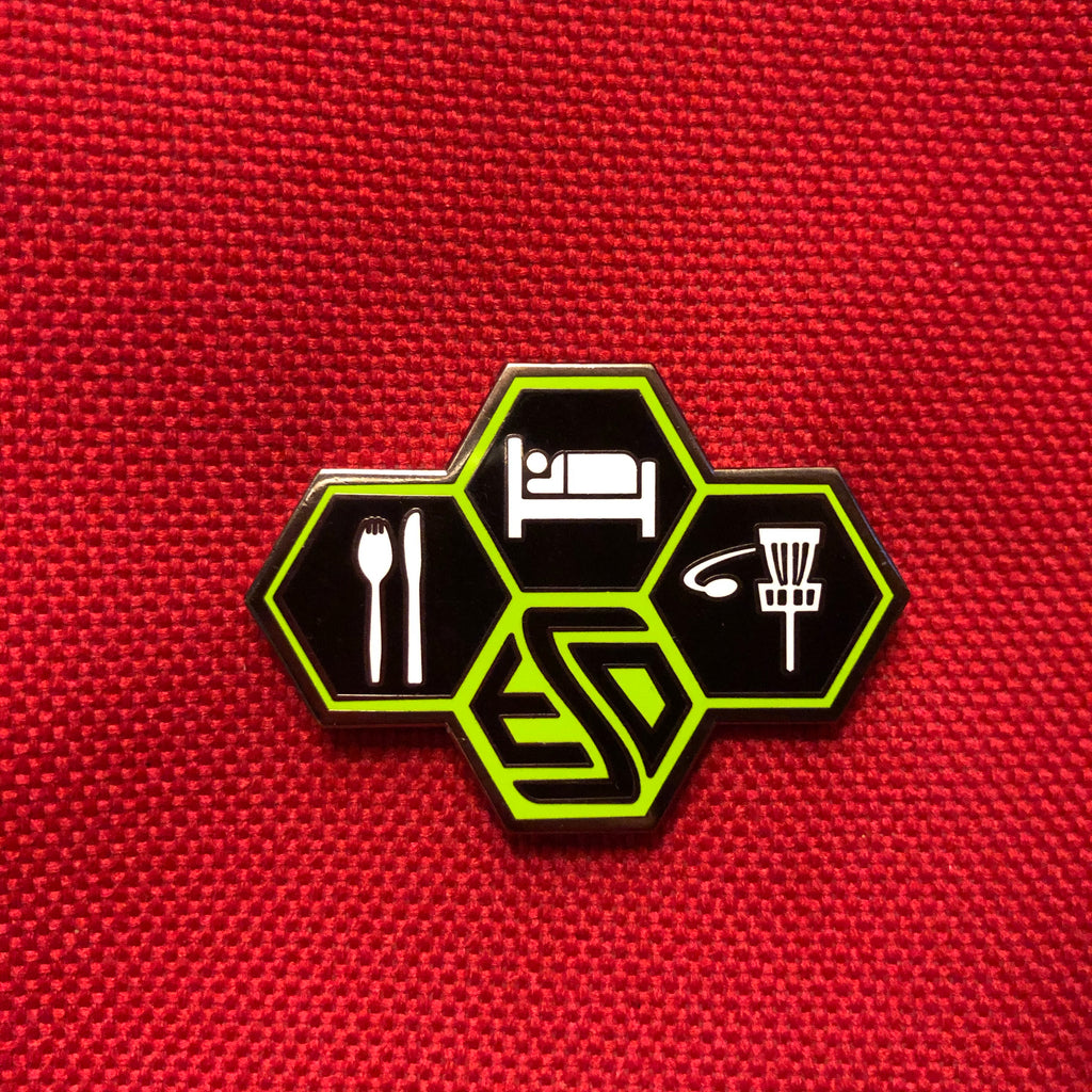 Eat Sleep Disc - Disc Golf Pin