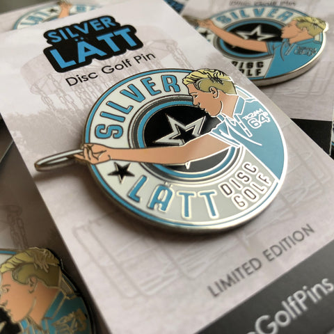 Silver Lätt Disc Golf Pin - Series 1