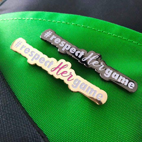 #respecthergame Disc Golf Pin