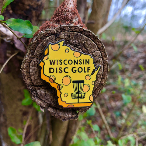 Wisconsin Disc Golf Pin