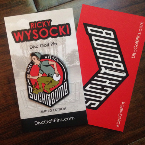 "Ricky ""Raptor Legs"" Wysocki Disc Golf Pin"
