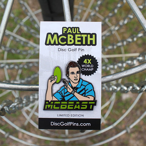 Paul McBeth 'McBeast' Disc Golf Pin Series 1 (2nd release!)