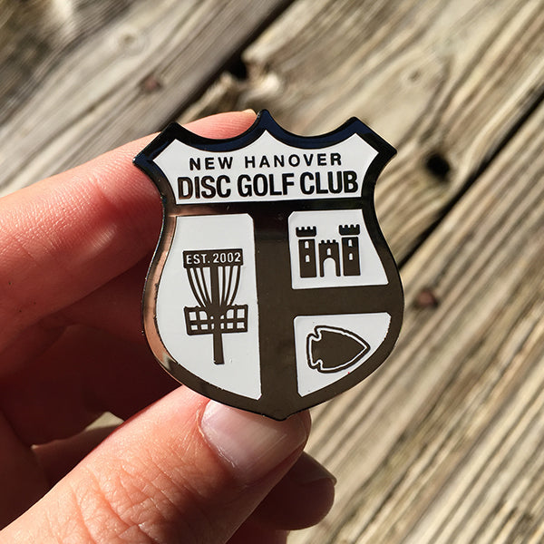 NHDGC Disc Golf Pin - (WHITE)