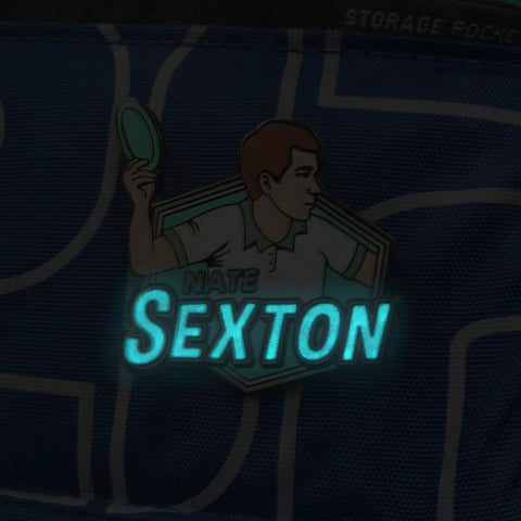 Nate Sexton GLOW Disc Golf Pin - Series 3