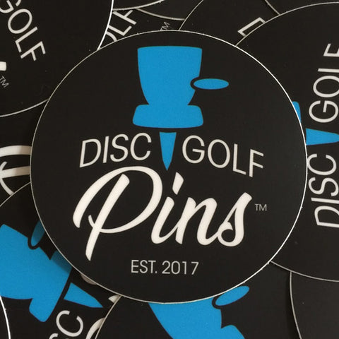 Disc Golf Pins Logo Sticker