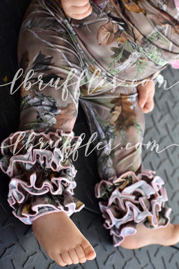 Camouflage Icings with Pink Trim (size 8 and 10 left)