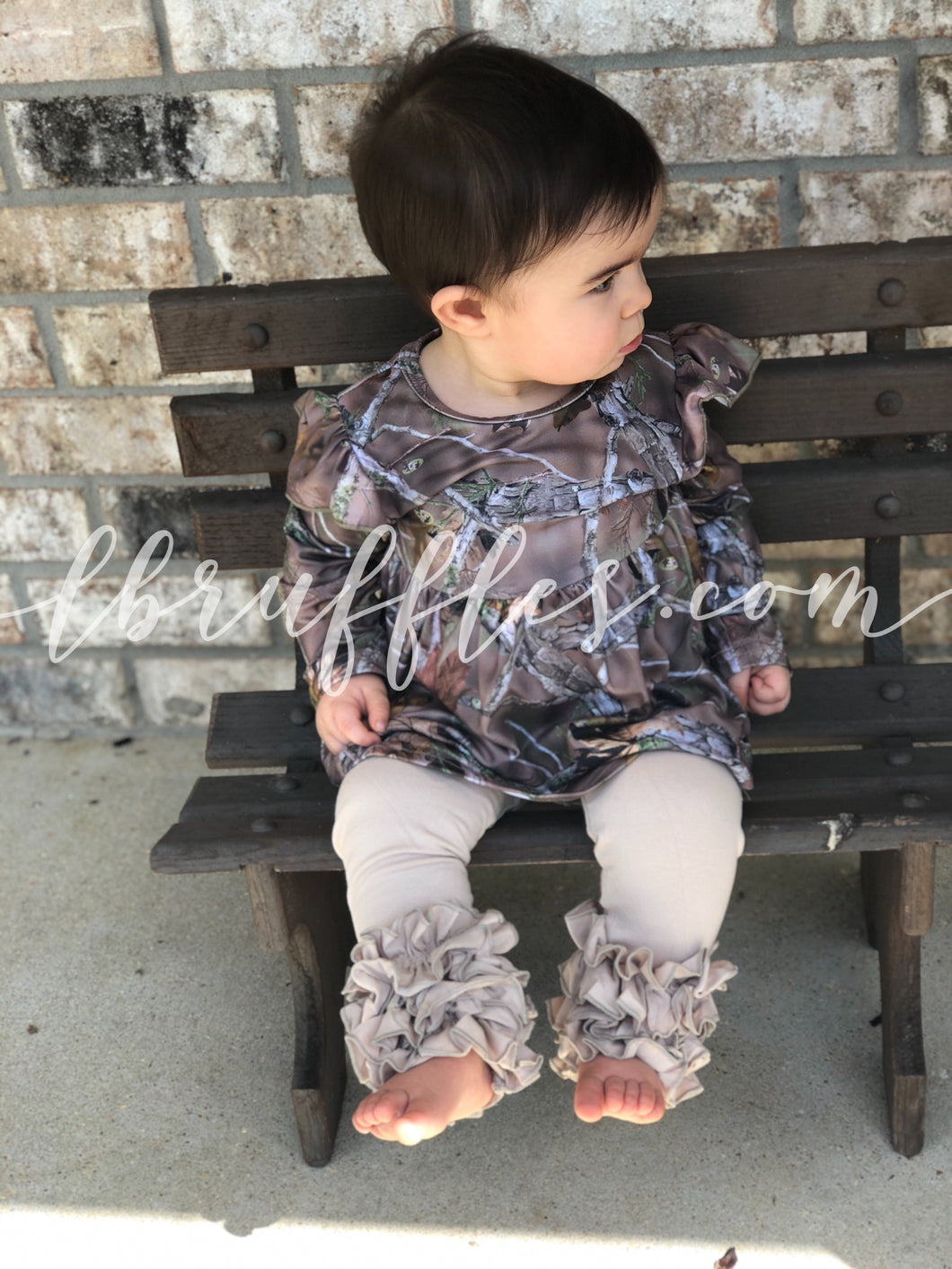 Camouflage Long Sleeve Pearl Top (sizes 5T-10 left)