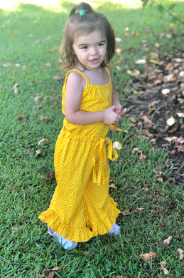 Yellow Polka Dot Jumper