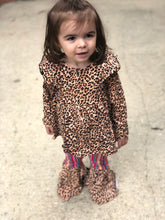 Cheetah Long Sleeve Pearl Top