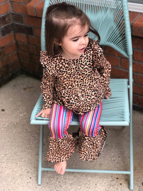 Cheetah and Serape Bell Bottoms