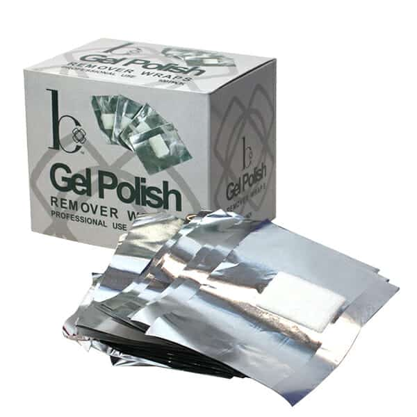 Gel Polish Remover Wraps 100 Pack