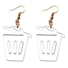 Hand Made Clear Bin Earrings Acrylic - Sparrow & The Bear