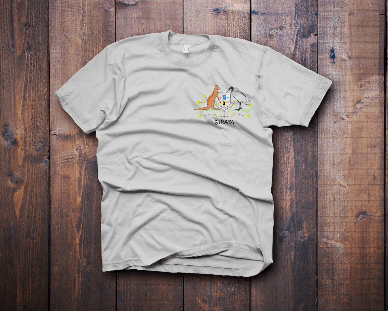 Coat of Arms Ibis Bin Chicken T-Shirt - Fresh Baked Threads