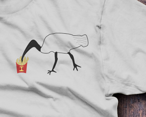 Bin Chicken, Ibis T-Shirt - Fresh Baked Threads