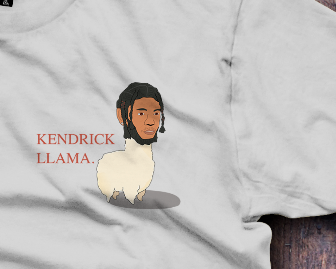 Kendrick Llama -  T-Shirt - Fresh Baked Threads