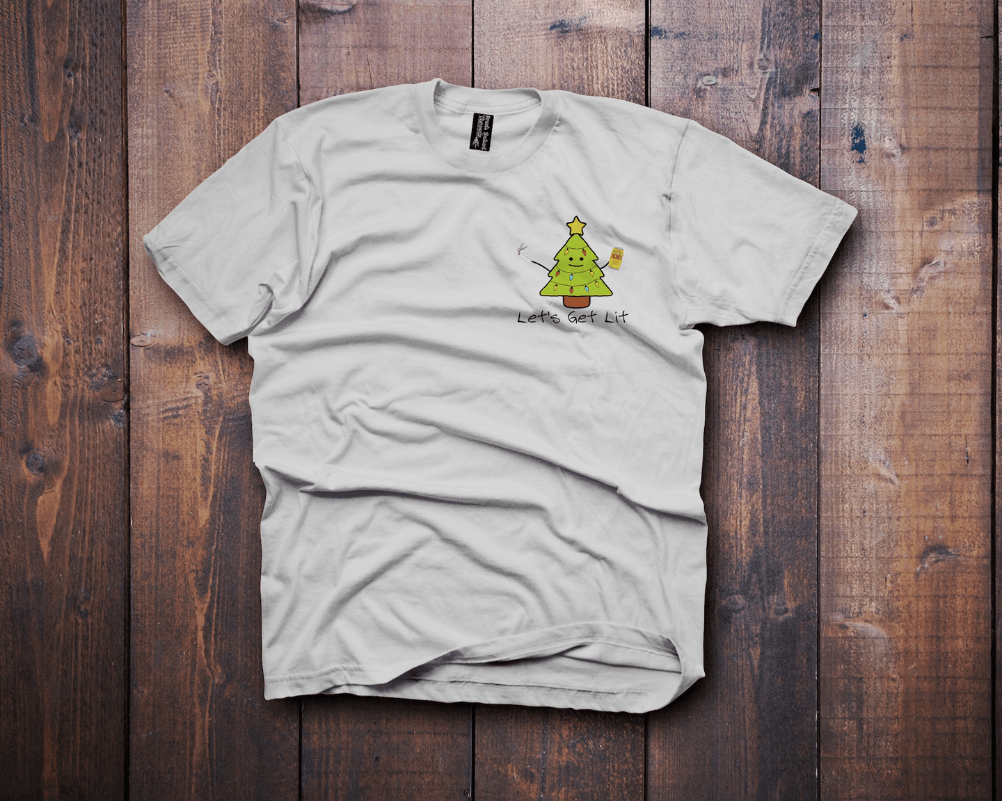 Lets Get Lit Christmas T-Shirt - Fresh Baked Threads - Gift, XMAS, Christmas