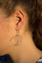 Hand Made Clear Bin Chicken and Bin Earrings Acrylic - Sparrow & The Bear