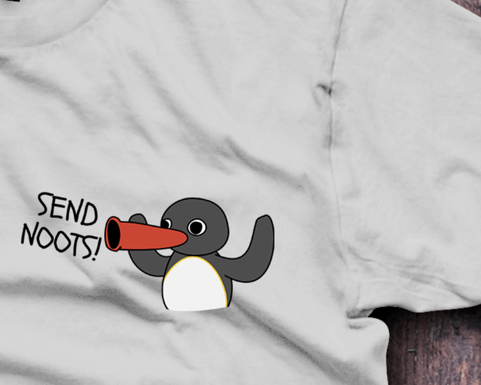 Send Noots, Send Nudes, T-Shirt - Fresh Baked Threads, Pingu