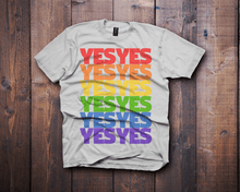 vote yes lgtbq lgtbqi white t-shirt - Fresh Baked Threads