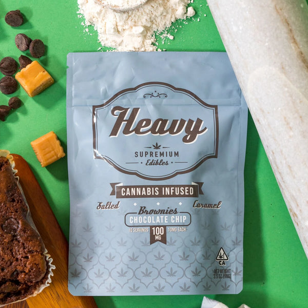 Heavy - Cannabis Infused Brownie - Salted Caramel  - 100mg