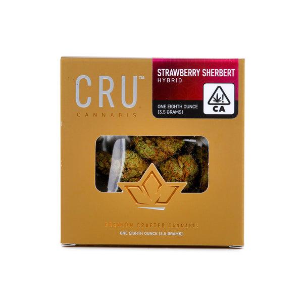 CRU - 3.5g - Strawberry Sherbert - Hybrid - 28.19%