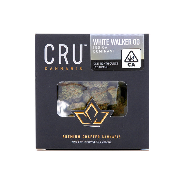 CRU - 3.5g - White Walker OG - Indica Dominant - 25.65%