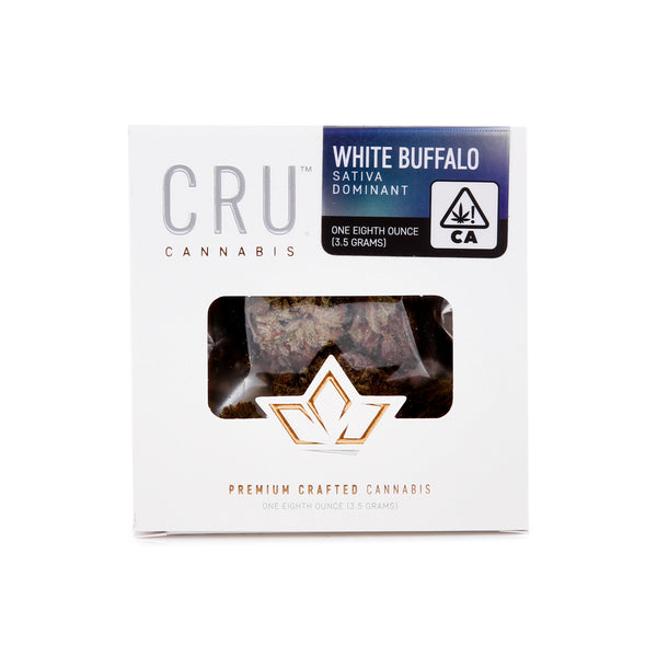 CRU - 3.5g - White Buffalo - Sativa Dominant - 24.57%