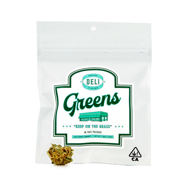 Deli Greens - Flower - 7g - Hybrid - Wedding Cake - 26.12% (Kiosk)