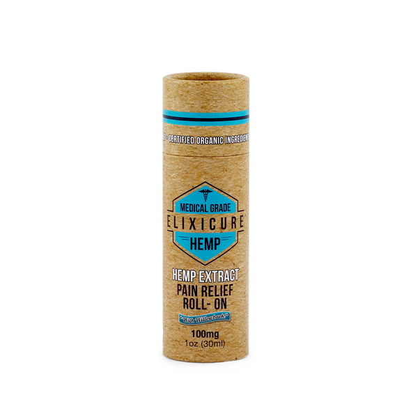 Elixicure – Hemp Pain Relief Roll On (100mg)