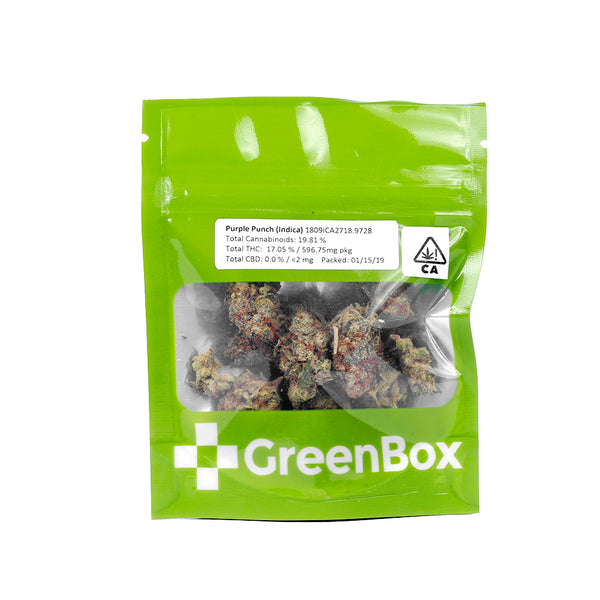 GreenBox - Purple Punch - 1/8th - Indica - 19.81%
