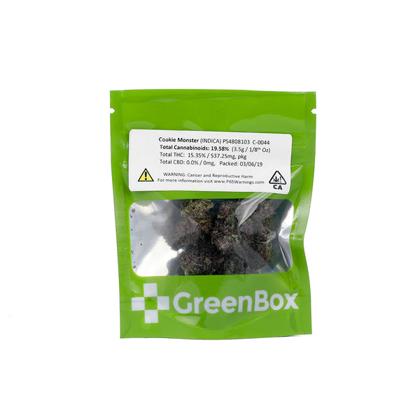 GreenBox - Cookie Monster - 1/8th - Indica - 19.58%