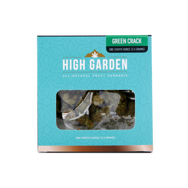 High Garden - 3.5g - Green Crack - Sativa Dominant - 17.69%