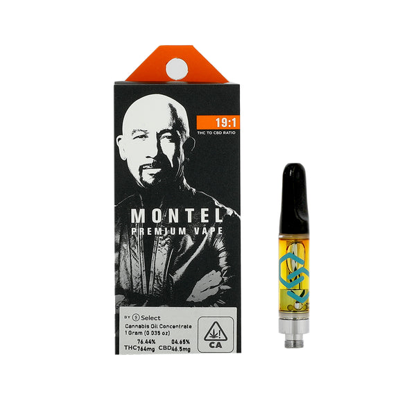 Montel - 1g Cartridge - Don Draper 19:1 - Hybrid - 76.44% THC 4.65% CBD