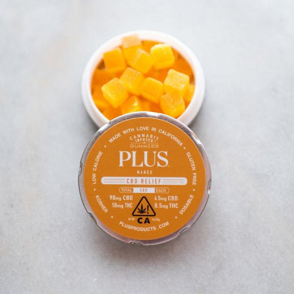 Plus - CBD Relief Mango Gummies