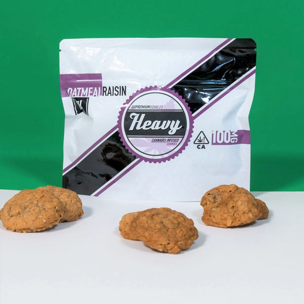 Heavy - Cannabis Infused Cookies - Oatmeal Raisin - 100mg