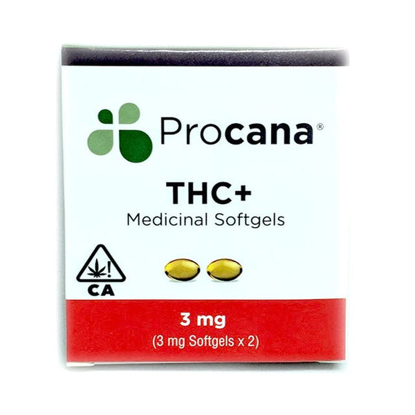 Procana - THC+ Medicinal Softgels - 3mg