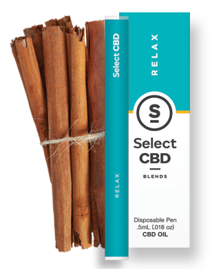 CBD Relax Cinnamon Disposable 0.5g Select CBD{217}
