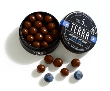 Terra Bites - Chocolate Coated Blueberries - 100mg THC