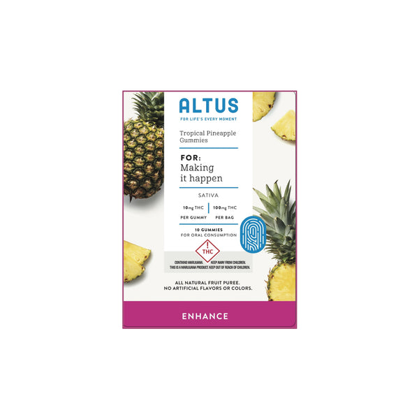 Tropical Pineapple Gummies 100mg SATIVA Altus {377}