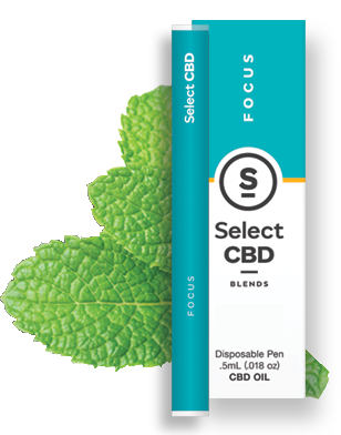 CBD Focus Peppermint Disposable 0.5g Select CBD {214}