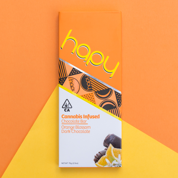 Hapy - Dark Chocolate Bar - Orange Blossom - 100mg