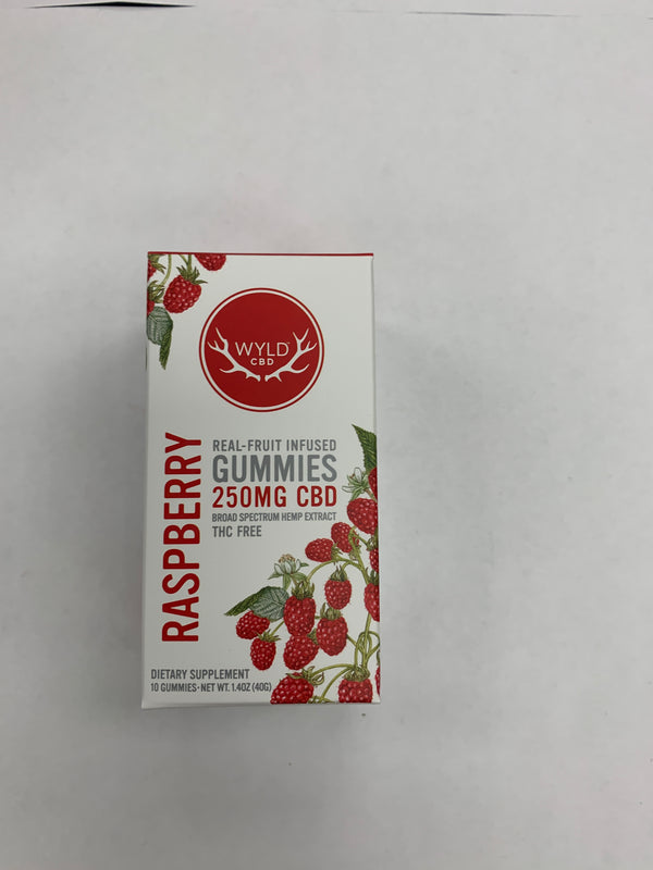 CBD Raspberry Gummies 250mg Wyld CBD {106}