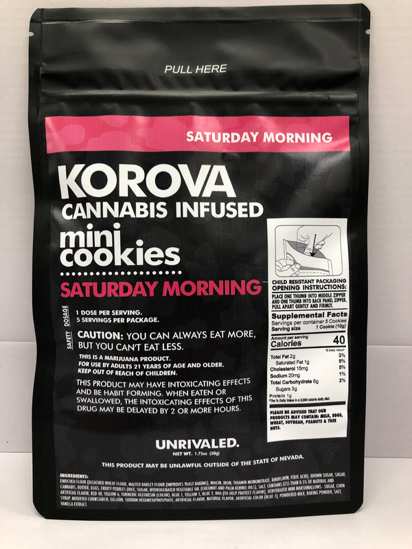 Saturday Morning Mini Cookies Korova Edible Hybrid 49mg {R-6}