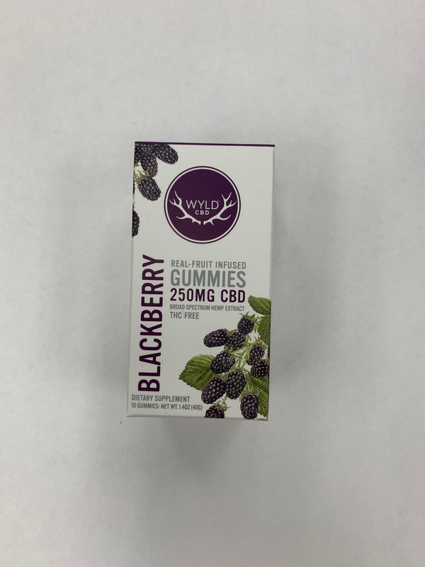 CBD Blackberry Gummies 250mg Wyld CBD {35}