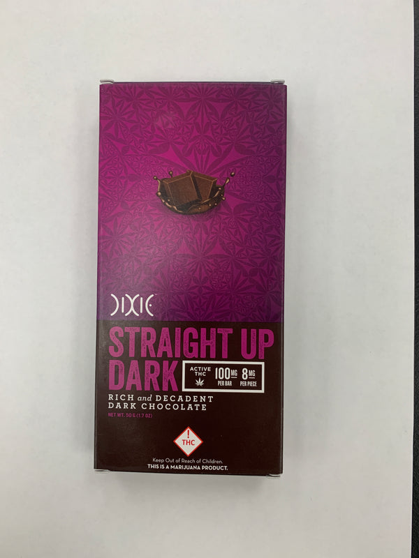Straight Up Dark Chocolate Bar HYBRID 100mg Dixie {R-11}